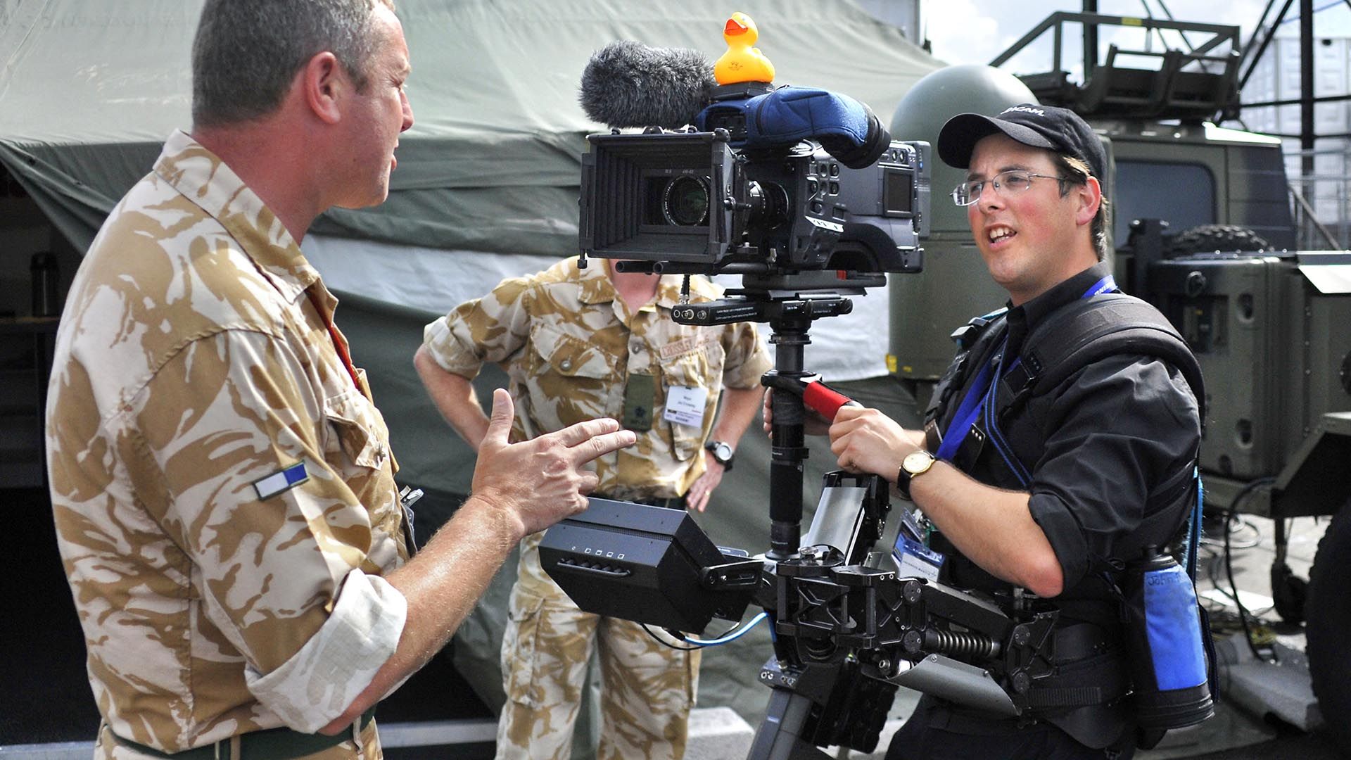 Farnborough Airshow Steadicam Interview John Fry HPX500